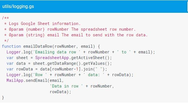 google script logging